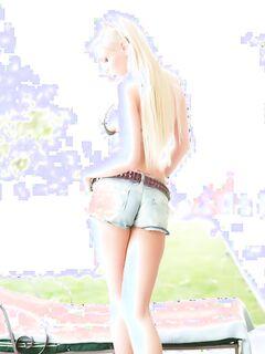 Сексапильная голая блондинка стонет от БДСМ траха